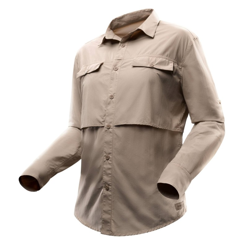 CAMICIA DESERT 500: il tessuto UPF50 assicura la massima protezione dai raggi UV. L e ampie aperture garantiscono una miglior aerazione. Il fondo delle tasche in mesh permette di liberarsi agevolmente della sabbia.  Modelli sia da uomo, che da donna.