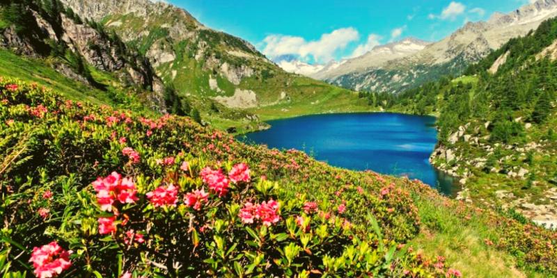 Dolomiti primavera lago trekking